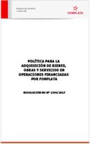 Miniatura del Documento RD 1394-2017 - Aprobación de Política de Adquisiciones y Bienes