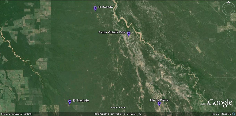 Santa Victoria Este y otros parajes